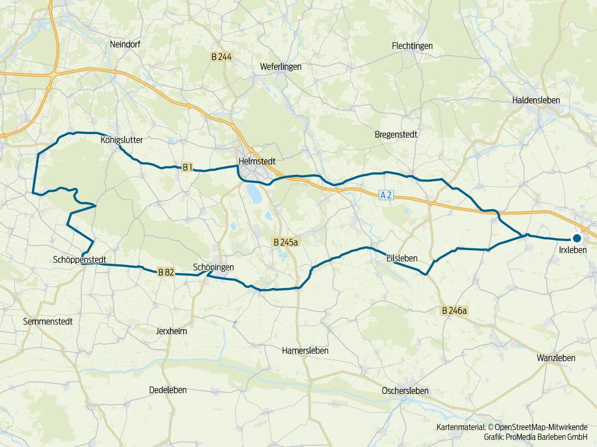 130 km Fahrrad-Tour