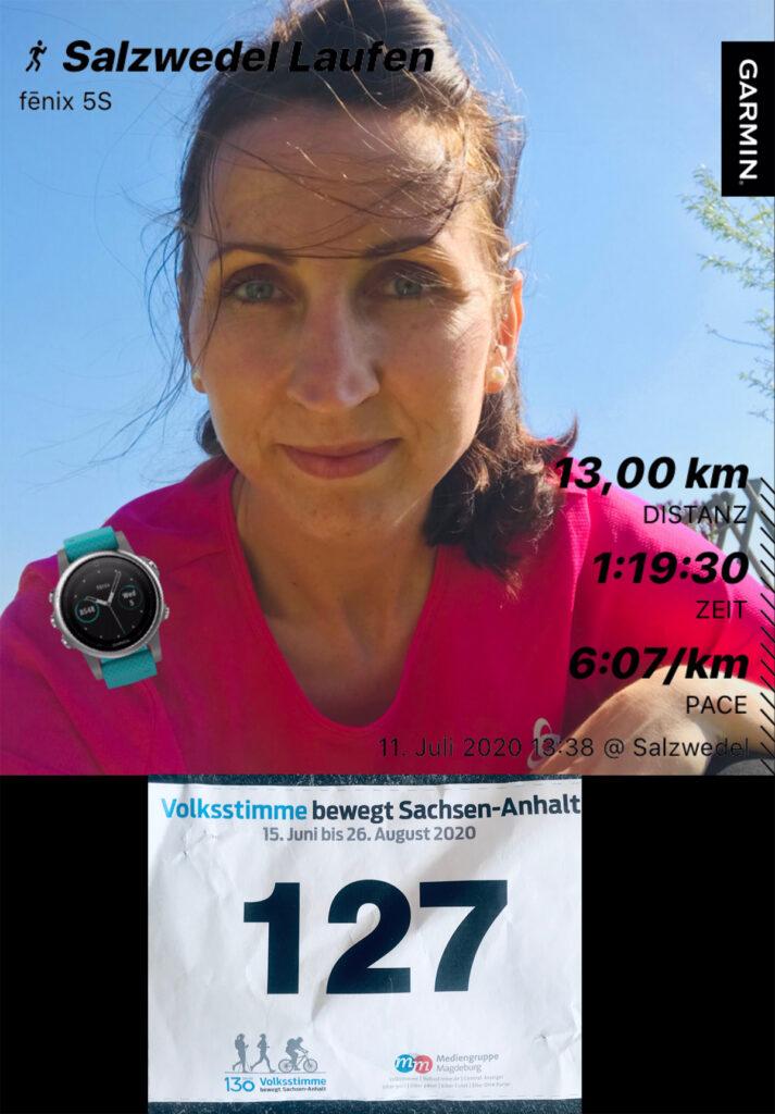 Sportliche Grüße aus der Altmark ... ich hatte sehr viel Spaß und laufe natürlich immer weiter! Herzliche Grüße Janett G.