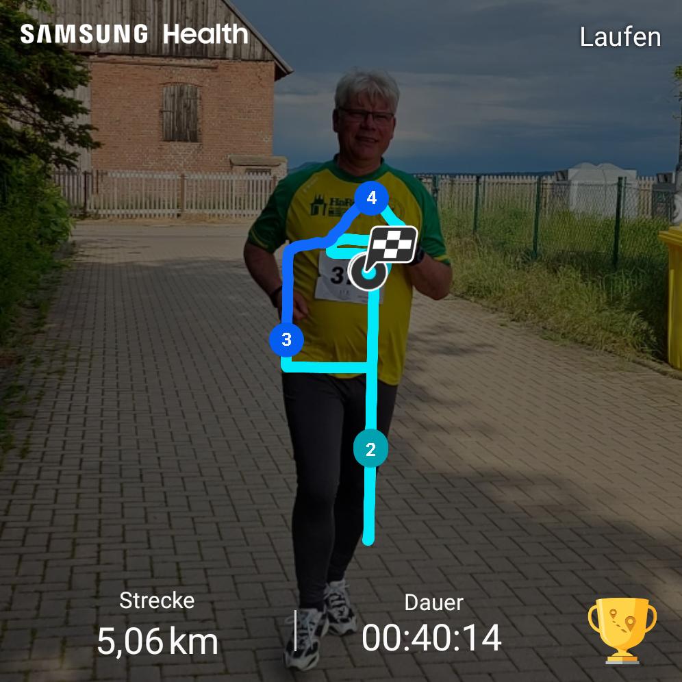 Guten Tag,  last but not least ... hier meine Zeit für das Laufen 00:40:14, ich habe einfach meine normale Laufrunde in meinen Heimatort um 2 km verlängert...deswegen sieht die Strecke so aus.  Danke für dieses Event. Es hat mit sehr viel Spaß gemacht und die Zeit des Wartens auf normalen Trainingsbetrieb verkürzt...  Gruß aus dem Harz vom zur Zeit nicht Tauchenden  Mit freundlichen Grüßen Dirk L.