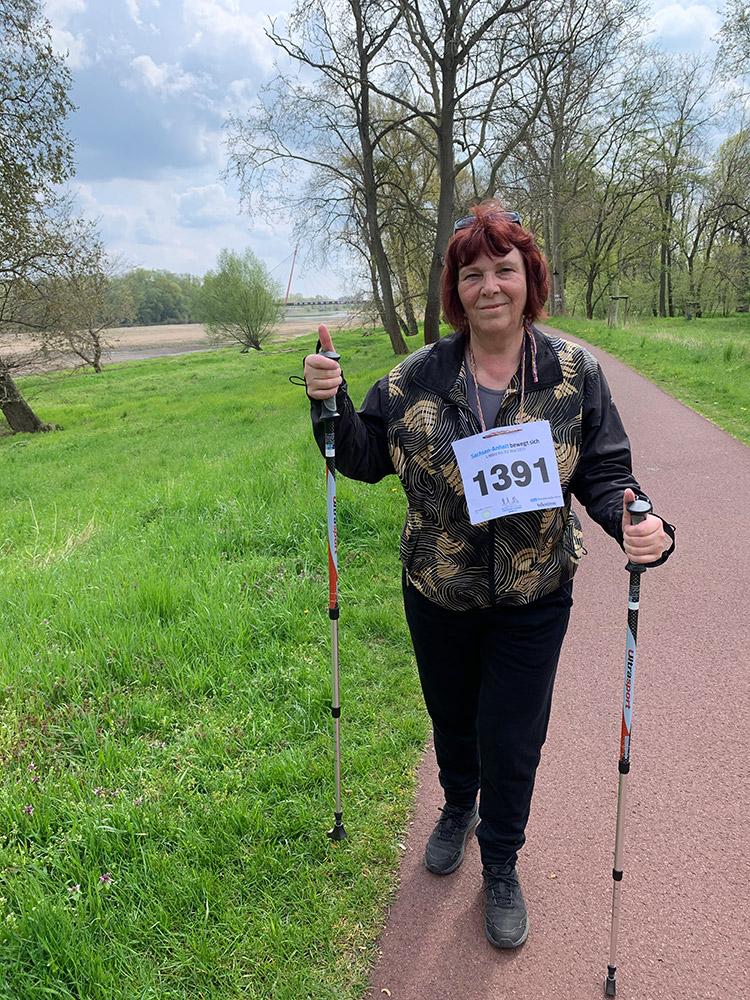 """Anbei mein Foto vom Walking im Stadtpark im Rahmen der Aktion """"Sachsen-Anhalt bewegt sich"""". Viele Grüße, Irene M."""