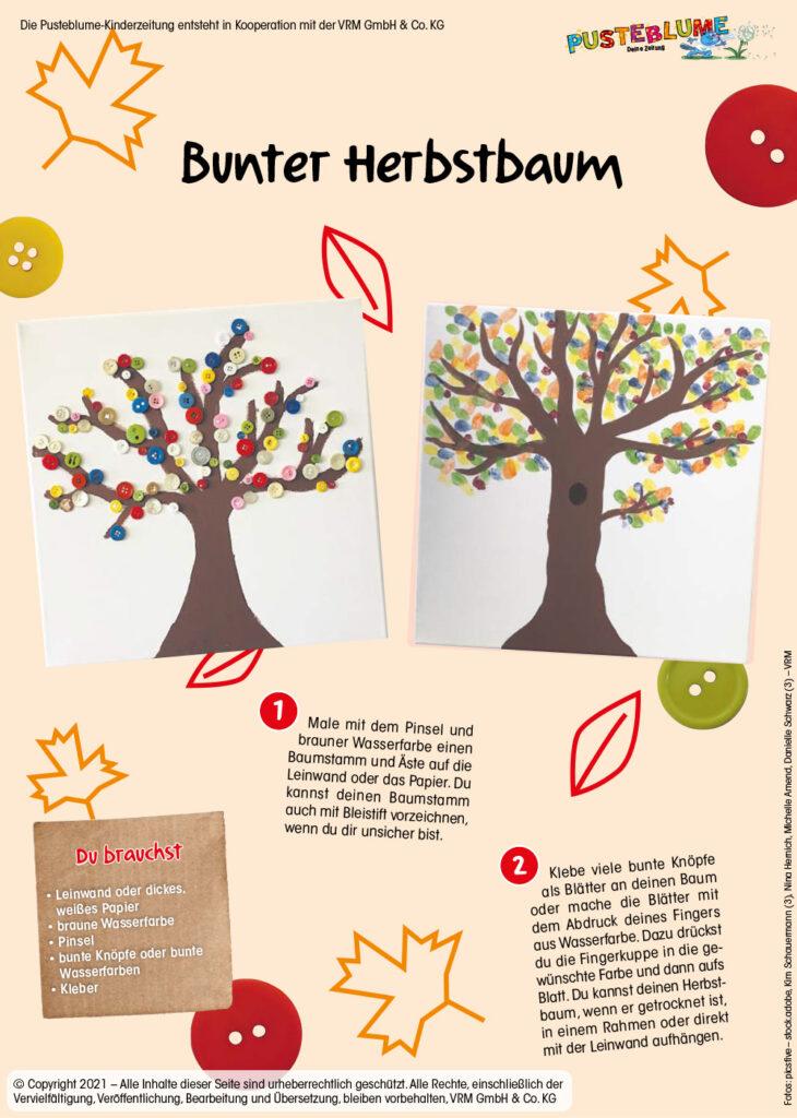 Bunter Herbstbaum basteln